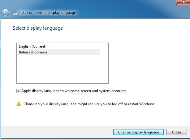 cara mengganti bahasa windows 7 menjadi bahasa indonesia